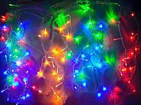 Гирлянда светодиодная Штора, Сосульки, Бахрома цветная Led 120