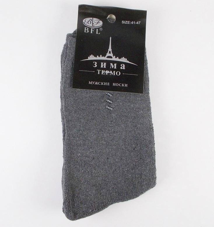 Носки мужские термо на махре BFL размер 41-47 серые