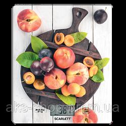 Весы кухонные электронные Scarlett SC-KS57P52 вес до 8 кг точность до 1 гр