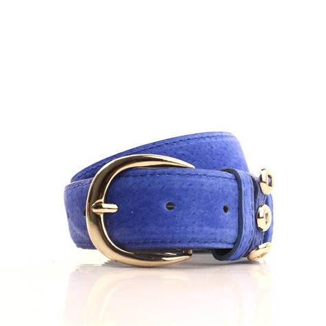 Ремень Casa Familia синий L3510W9 105-110 см, фото 2