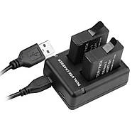 Набор: Зарядное устройство на два места + два аккумулятора AHDBT-801 для GoPro HERO8 Black, фото 3