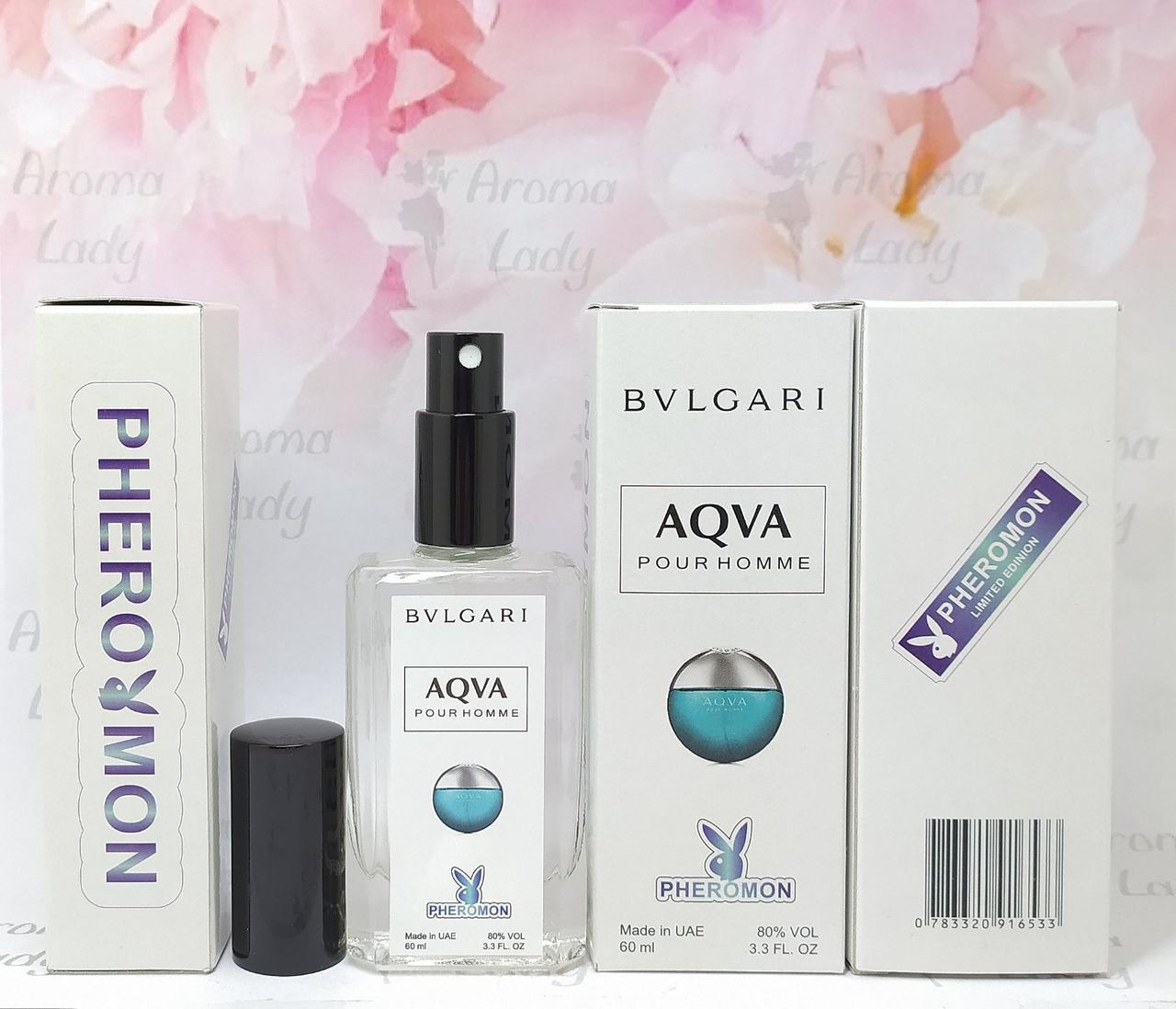 Мужской аромат Bvlgari Aqva Pour Homme (Булгари Аква Пур Хомм) с феромонами 60 мл
