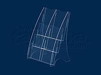 Буклетниця (під флаєри) на 6 кишень PP-DL-8, акрил прозорий 1,8 мм
