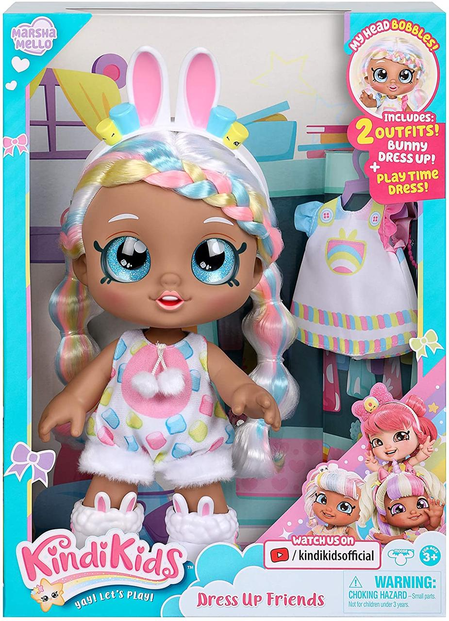 Кукла Кинди Кидс Марша Мелло Зайка Наряжай друга Kindi Kids Dress Up Marsha Mello Bunny 50064