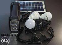 Фонарь с солнечной батареи (набор с лампочки, солнечной панелью и  переходниками)  GDLite GD-8037, фото 1