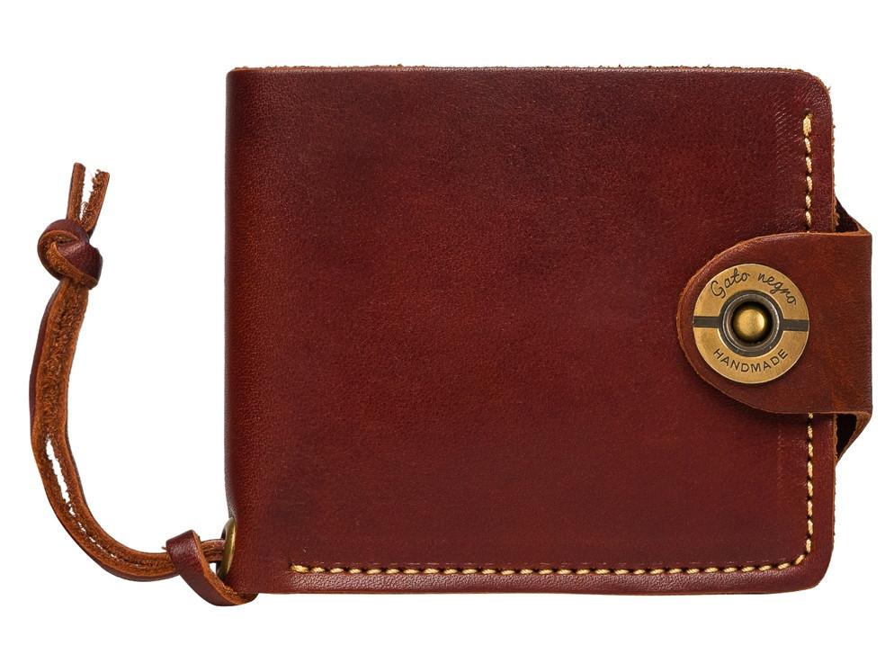 9e9b6b29e649 Кожаный кошелек ручной работы Gato Negro Four мужской, коричневый (мужские  кошельки из натуральной кожи