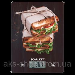 Весы кухонные электронные Scarlett SC-KS57P56 вес до 8 кг точность до 1 гр