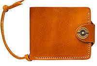 Кожаный кошелек ручной работы Gato Negro Four мужской, рыжый (мужские кошельки из натуральной кожи)