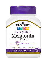 Мелатонін 21st Century Melatonin 10 mg 120 Tabs (Cherry)