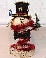 Новогодний Снеговик с елкой. Декор своими руками. Новогодняя настольная композиция 2021