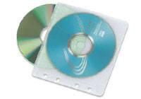 Конверт пластиковый на 2 CD с перфорацией (100 шт)