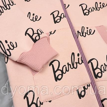 "Детский тёплый комбинезон ромпер ""Barbie"", фото 2"