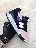 New Balance 998 Salmon (Синий Розовый), фото 1