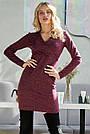 Платье трикотажное короткое цвета марсала, фото 4