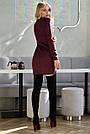 Платье трикотажное короткое цвета марсала, фото 5