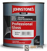 Johnstones (Джонстоун ТМ) Professional Gloss Brilliant White Глянцевая профессиональная краска 5л
