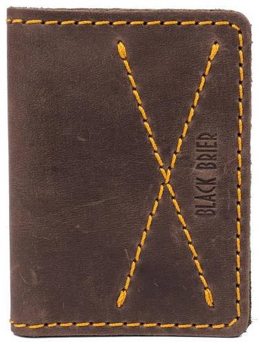 Кожаная обложка для водительских документов Black Brier ОП-9-33 коричневый