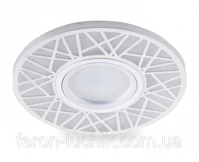 Светильник точечный MR16 с подсветкой Feron светодиодный, который подходит для натяжных (подвесных) потолков. Код: CD 991.