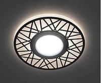 Встраиваемый светодиодный светильник Feron CD991 с LED подсветкой точечный Белый, фото 1