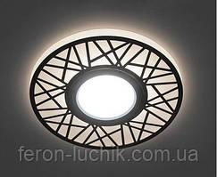 Встраиваемый светодиодный светильник Feron CD991 с LED подсветкой точечный Белый