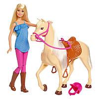 """Barbie Doll & Horse Кукла Барби с лошадью (Игровой набор Барби """"Верховая езда"""" FXH13)"""