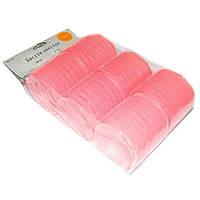 Бигуди липучки розовые d 66 мм (6 шт)