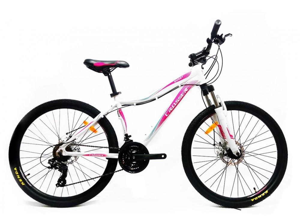 """Горный велосипед Crosser SWEET 26"""", Бело-розовый"""