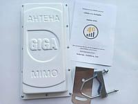 3G/4G LTE GSM антенна панельная GIGA v.2 MIMO 2x2 15dB + кабель для подключения к роутеру 2*12,5м., фото 1