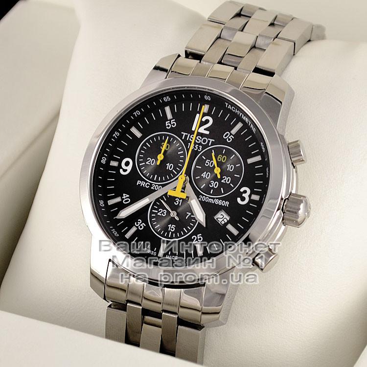 Брендовые мужские наручные часы Tissot PRC 200 T17.1.586.52 Chronograph Тиссот качественная премиум реплика