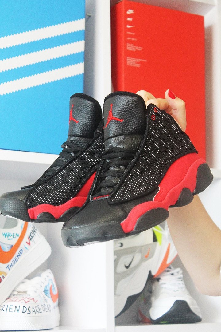 Nike  Air Jordan 13 Black Red (Черный Красный)