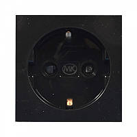 Модуль электрический одинарный, 220В, 50х50 мм, черный