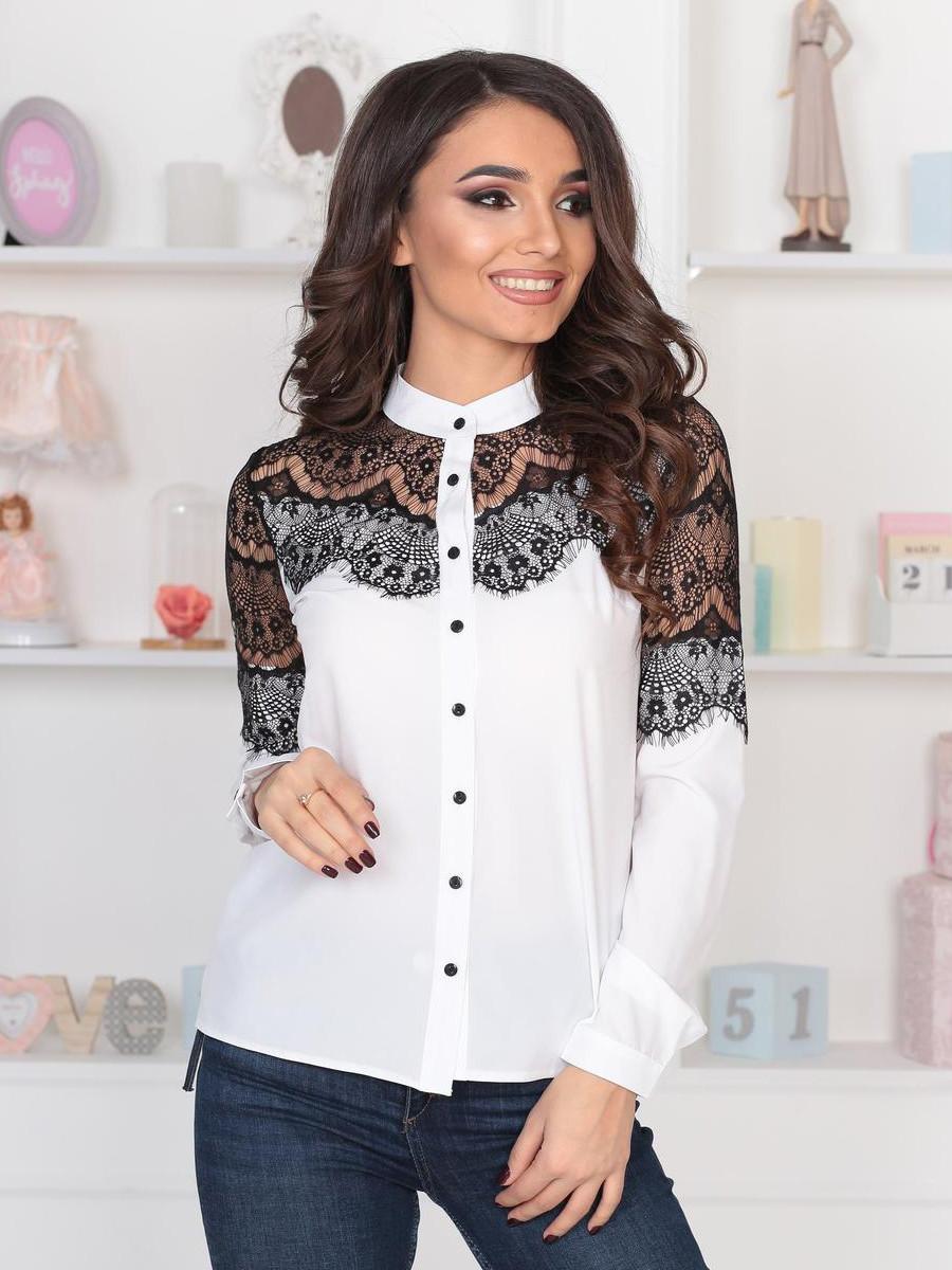 S, M, L, XL   Витончена жіноча блузка Peris, білий