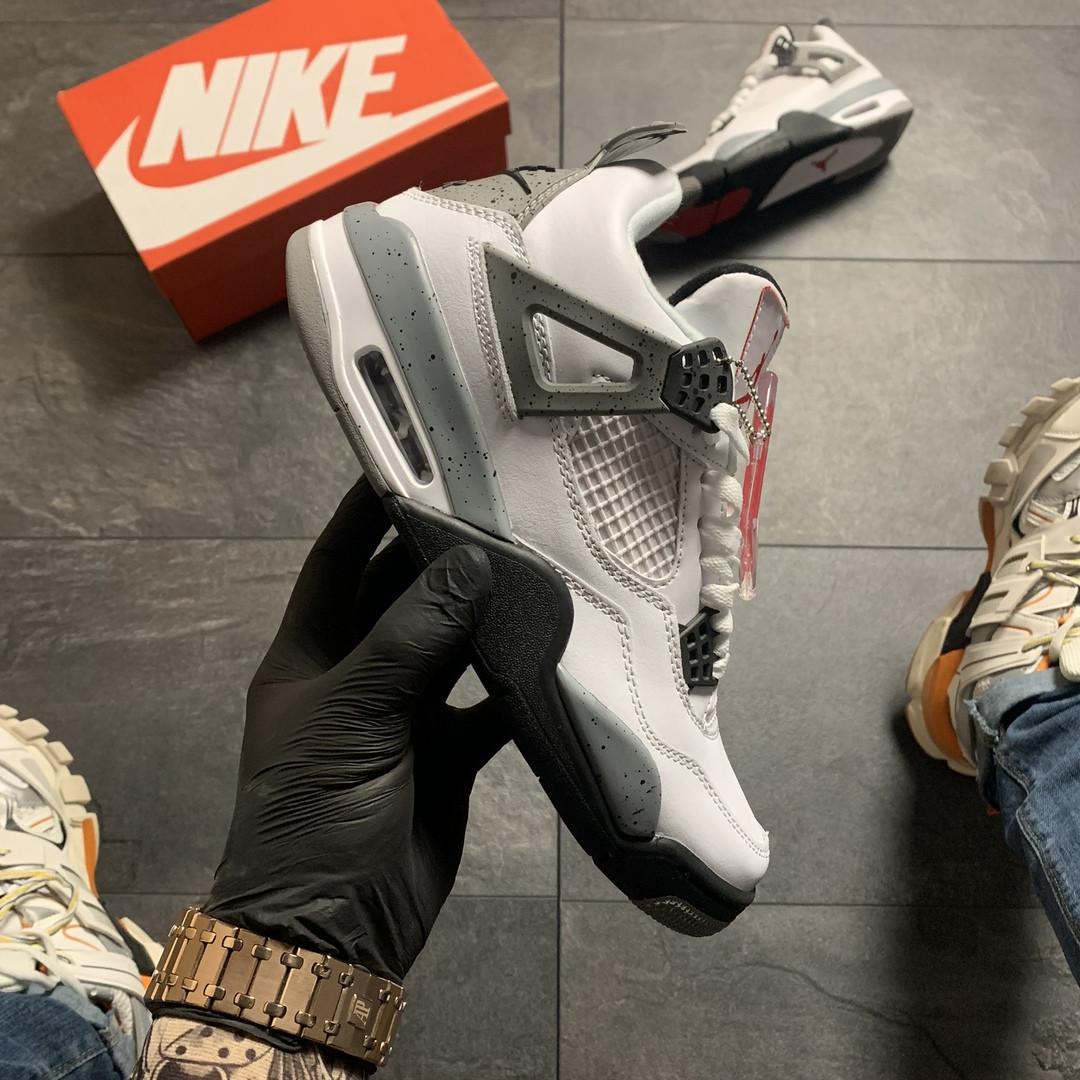 Nike Air Jordan 4 Retro Grey White (Белый)