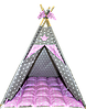 Вигвам Хатка комплект Принцесса Розовый с мягким ковриком