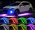 Подсветка днища и салона автомобиля/ Светомузыка + Пульт/ Светодиодная RGB LED (2 шт х 90 см + 2 шт х 120 см), фото 2