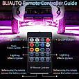 Подсветка днища и салона автомобиля/ Светомузыка + Пульт/ Светодиодная RGB LED (2 шт х 90 см + 2 шт х 120 см), фото 8