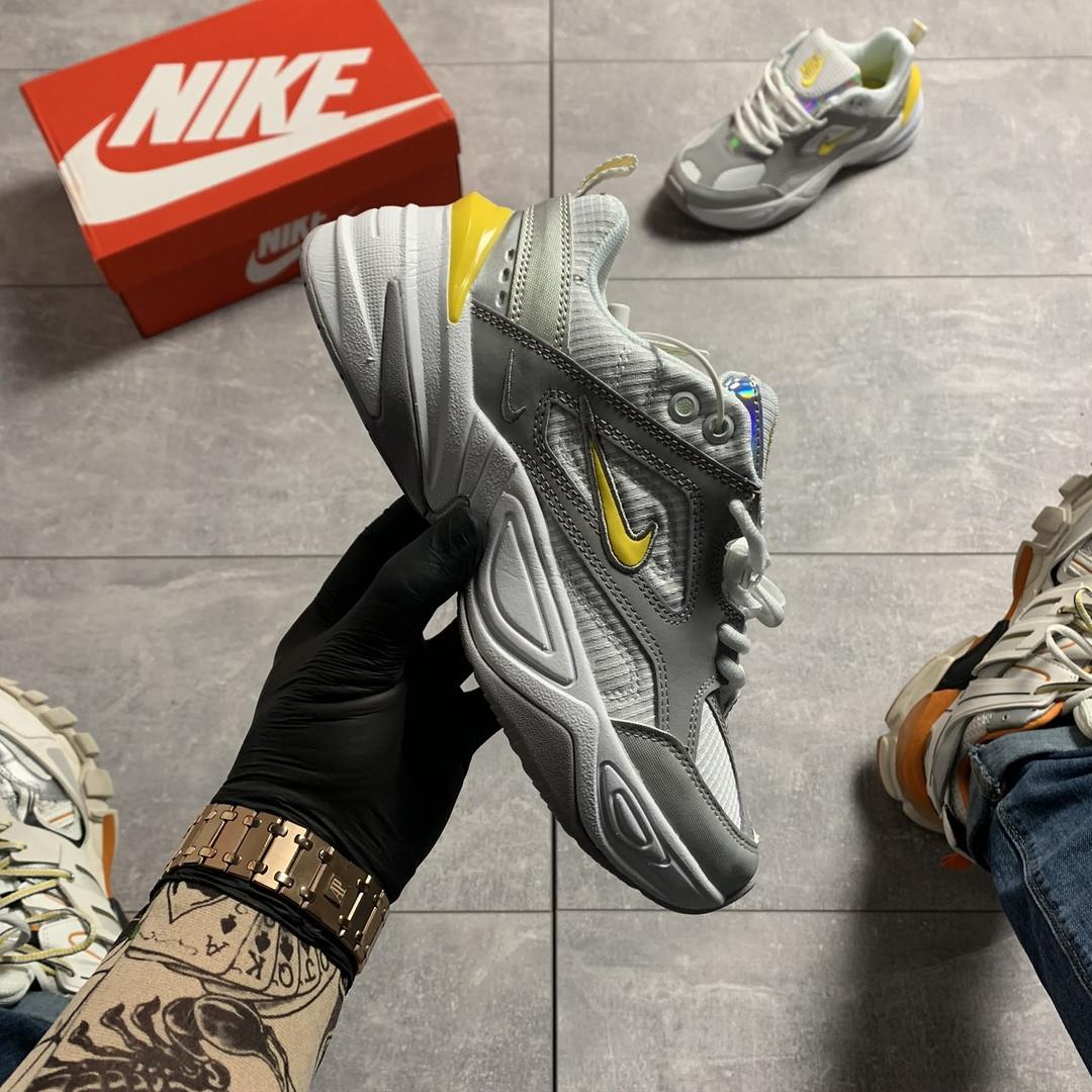 Nike M2K Tekno Grey Dynamic Yellow (Серый)
