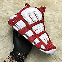 Nike Air More Uptempo Red Supreme (Красный), фото 1