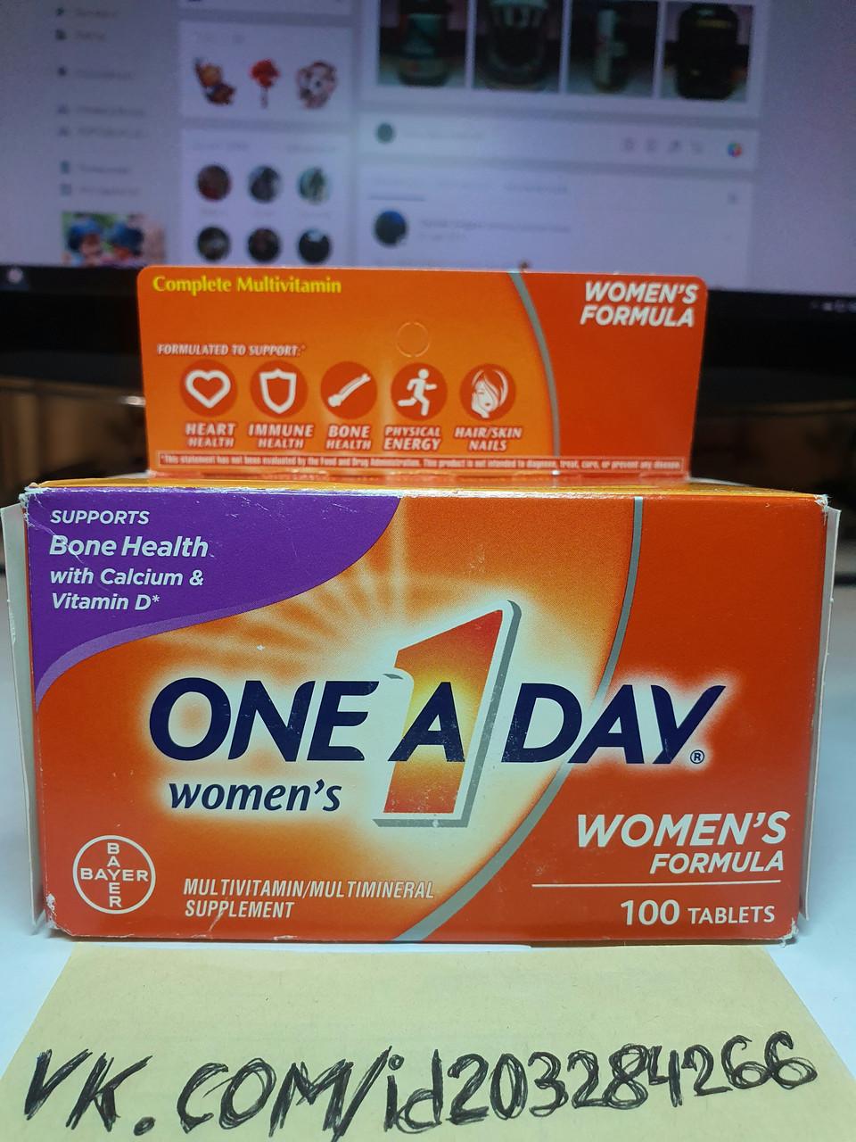 Витамины для женщин Bayer One A Day Women's Formula 100 tabl
