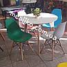 Обеденный стул AC-016W (Eames Chair) темно-зеленый пластик