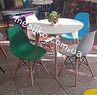 Обеденный стул AC-016W (Eames Chair) темно-зеленый пластик, фото 1