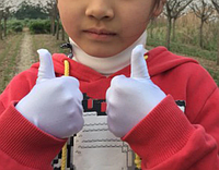 Белые детские перчатки. От 3 до 10 лет, Размеры S M.