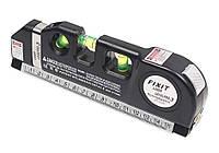 Лазерный уровень нивелир Fixit Laser Level Pro 3 +рулетка+уровень | Измерительный инструмент