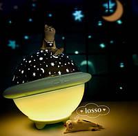 Ночник звездное небо Night Light projection lamp | Детский ночник-проектор | Мягкий лед ночник