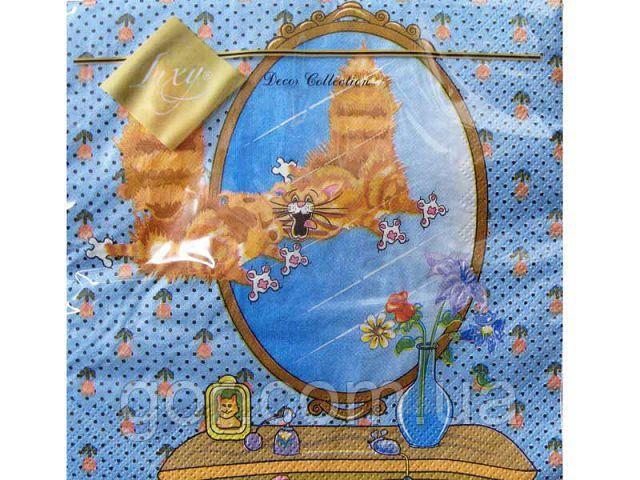 Салфетка для декора (ЗЗхЗЗ, 20шт) Luxy  Кит Персик (008) (1 пач)