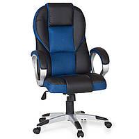 Офисное кресло для руководителя RACE синее