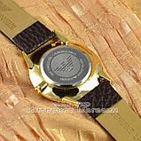Мужские наручные часы Emporio Armani Quartz Data Gold White с календарем кварцевые класический стиль реплика, фото 2