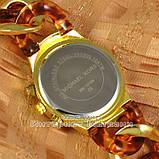 Женские наручные часы Michael Kors Gold Yellow Brown косичка японский механизм люкс реплика, фото 2