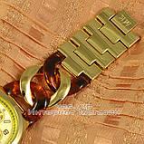 Женские наручные часы Michael Kors Gold Yellow Brown косичка японский механизм люкс реплика, фото 3