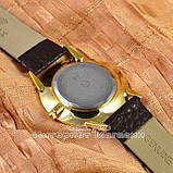 Мужские наручные часы Rolex Tungsten Gold White с календарем кварцевыя кожа Япония люкс реплика, фото 2